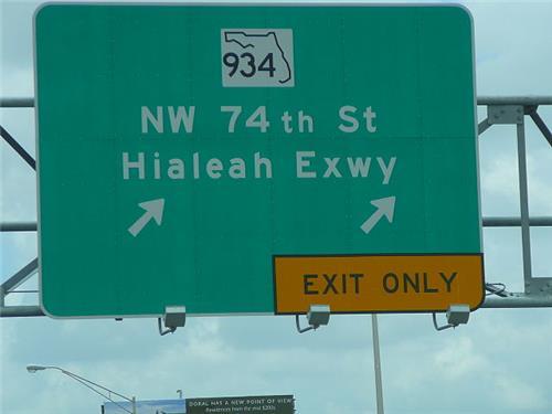 Hialeah Expressway Sign